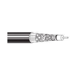 Coax - CATV Cable 18 AWG GIFHDLDPE DBL SH PE. Black